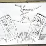 ARAB au journal El Djoumhouria 29 04 08 -3 dessin offert au dessinateur actuel